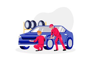 Réparation du véhicule